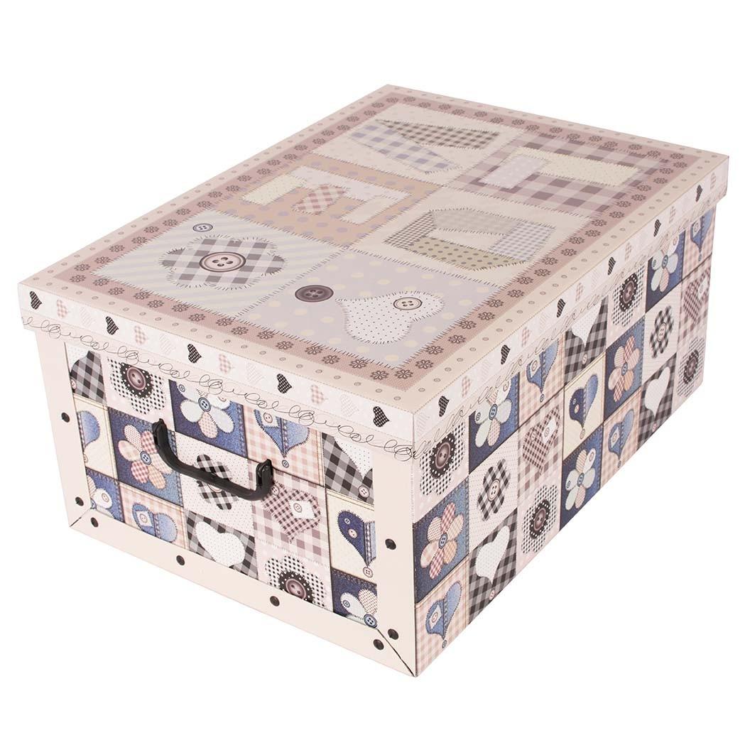731c1d168 Krabica úložná, dekoračná papierová, pevná