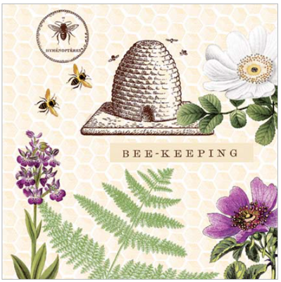 Servítky BEE-KEEPING 40x40, Linclass Mank