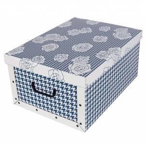 093277b55 Krabica Maxi Pied De Poule Blue